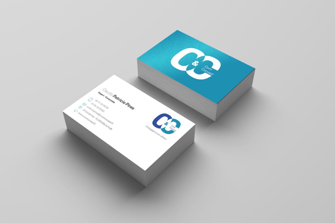 Carte de visite C&C Com' Conseil
