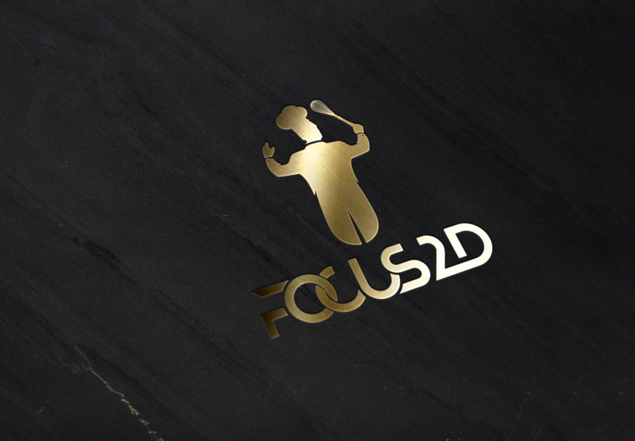 Logo Focus 2D Gold