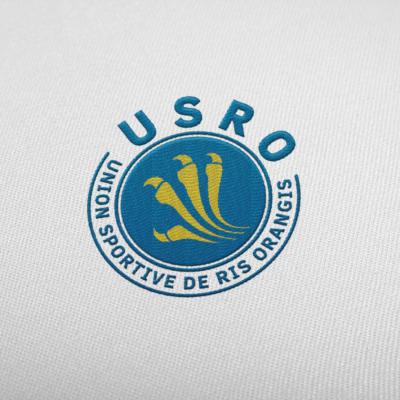 Logo Union Sportive de Ris Orangis Broderie