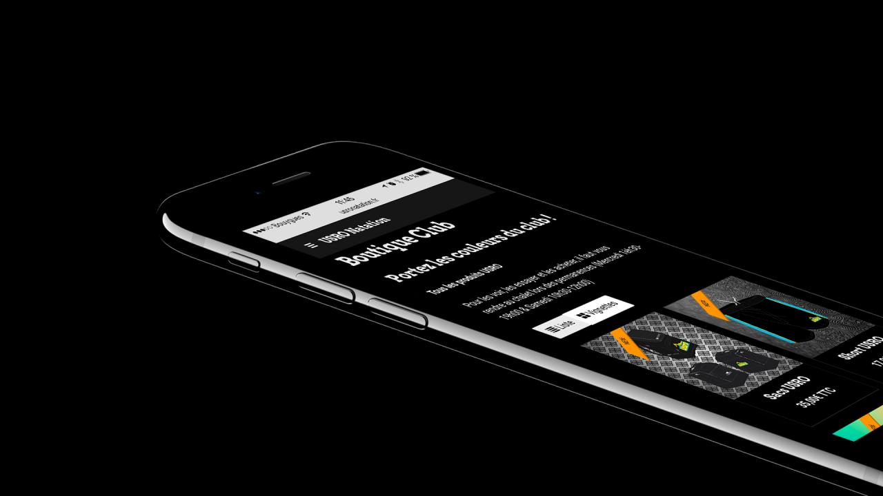 Nouveau Site USRO Natation iPhone 7