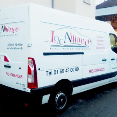 Marquage véhicule Loc'Alliance