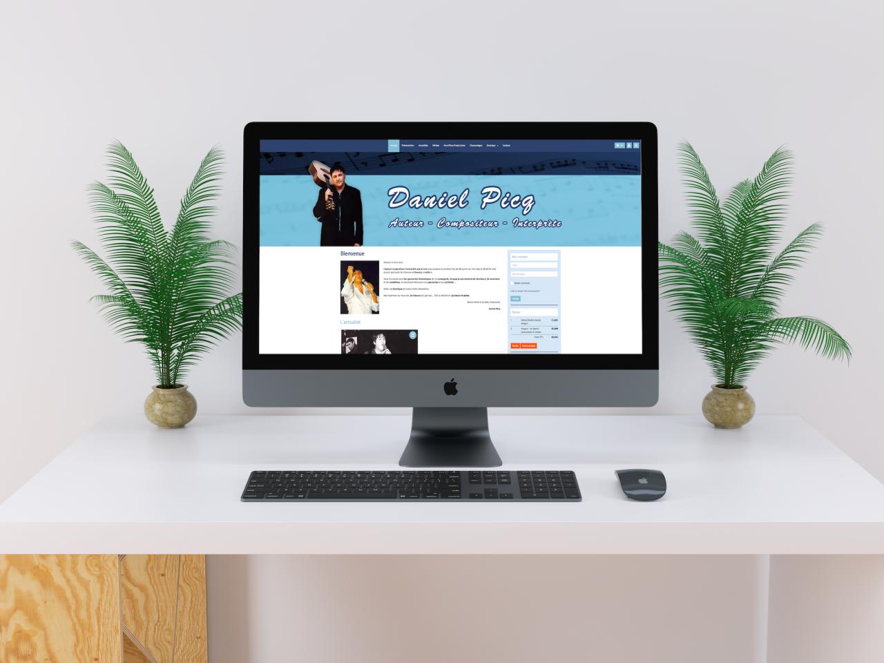 Site Daniel Picq iMac