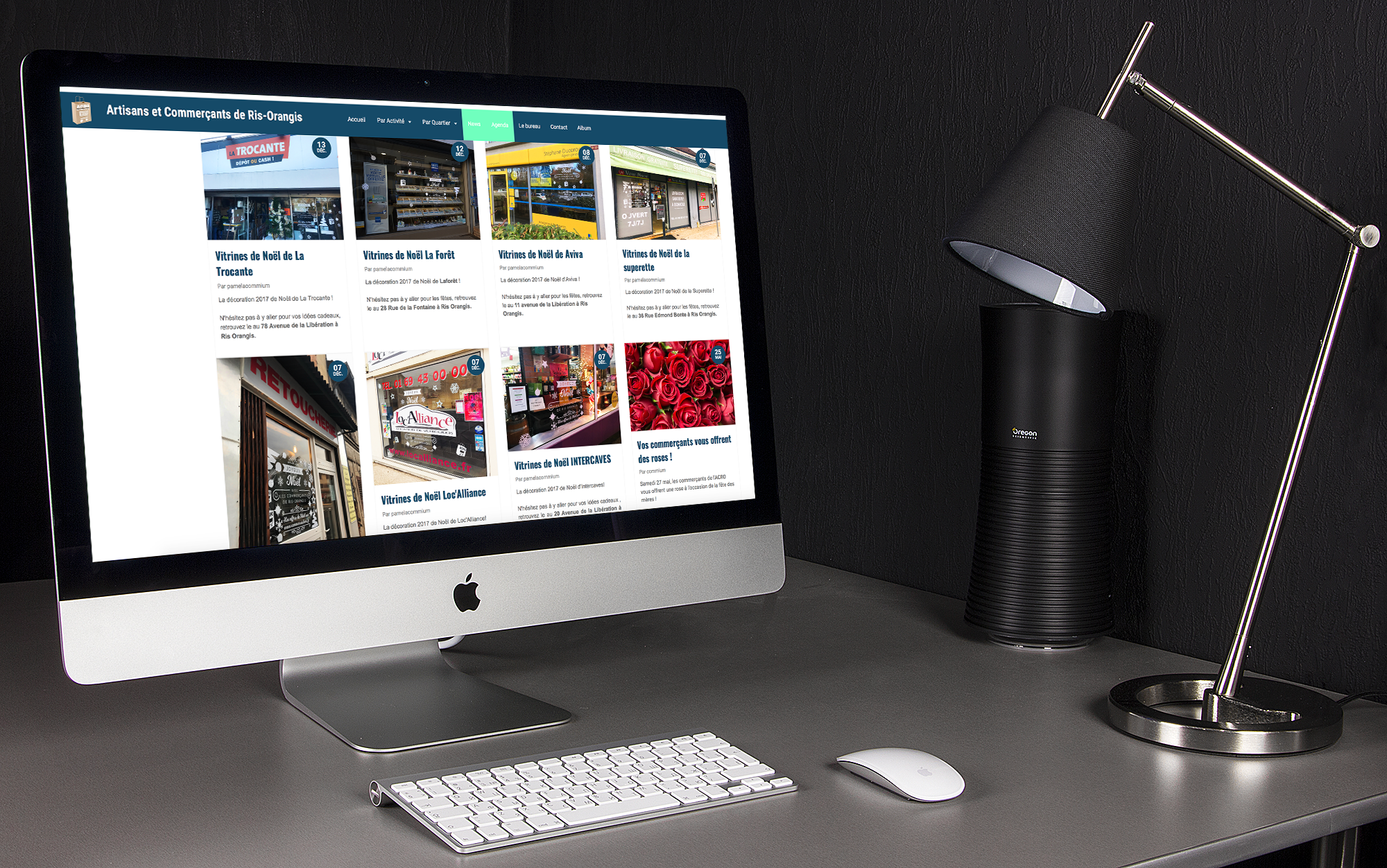 Site internet Commerce de Ris 2