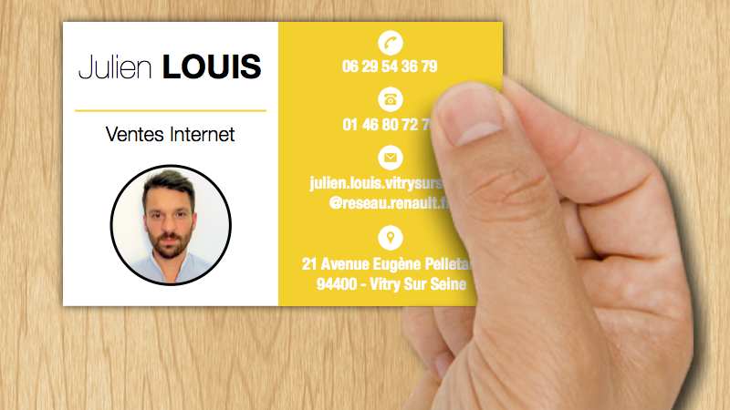 Carte de visite julien recto